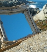 Miroir bois flotté Corse